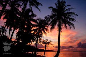 Закат на пляже Бан-Тай Самуи